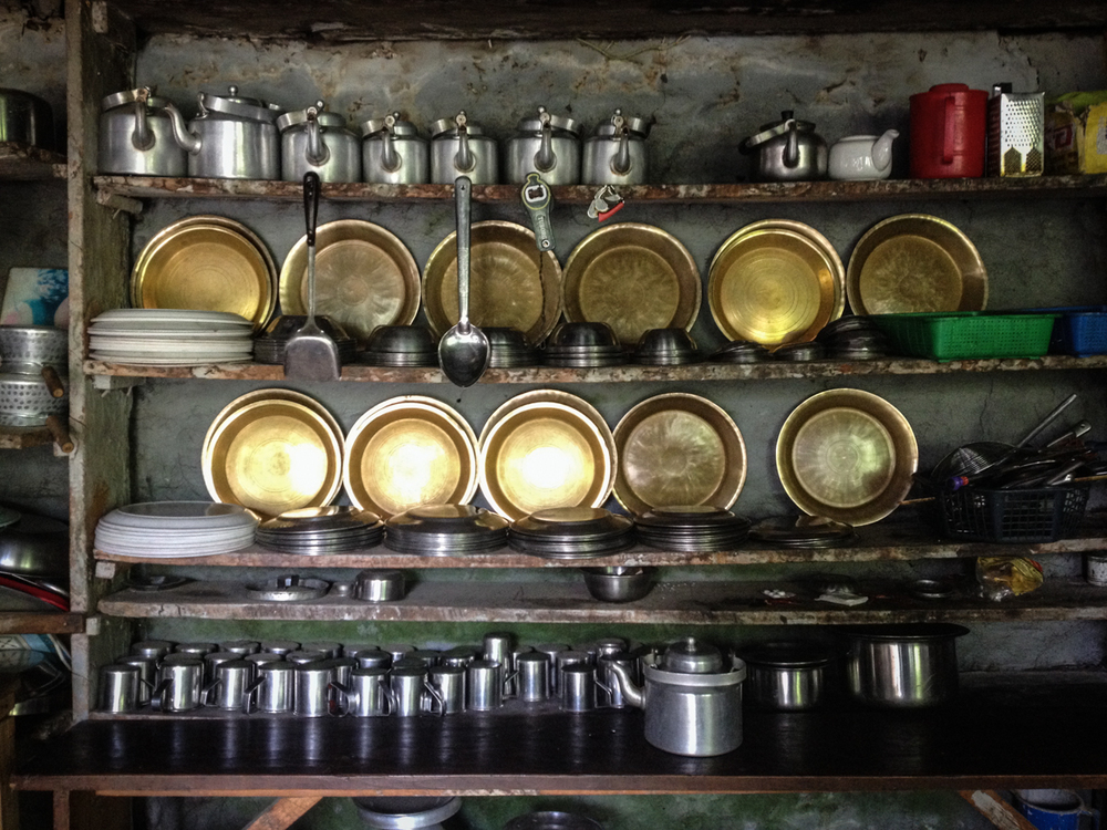 Typical Nepali teahouse kitchen.