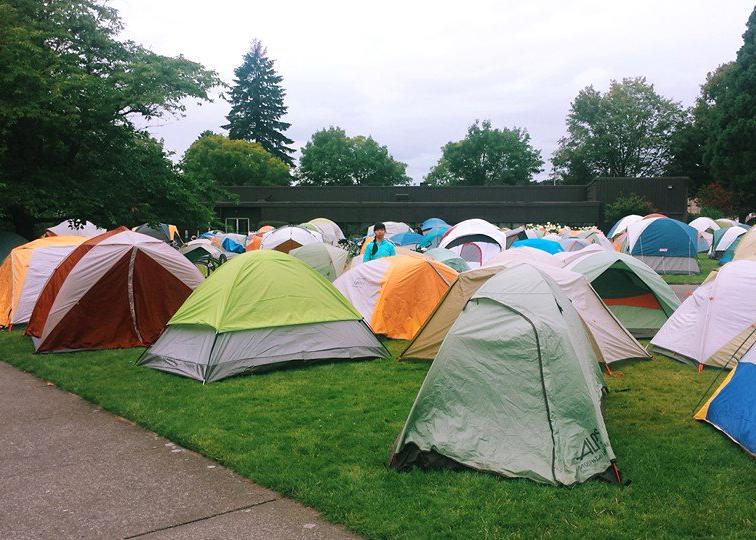 Tent city.