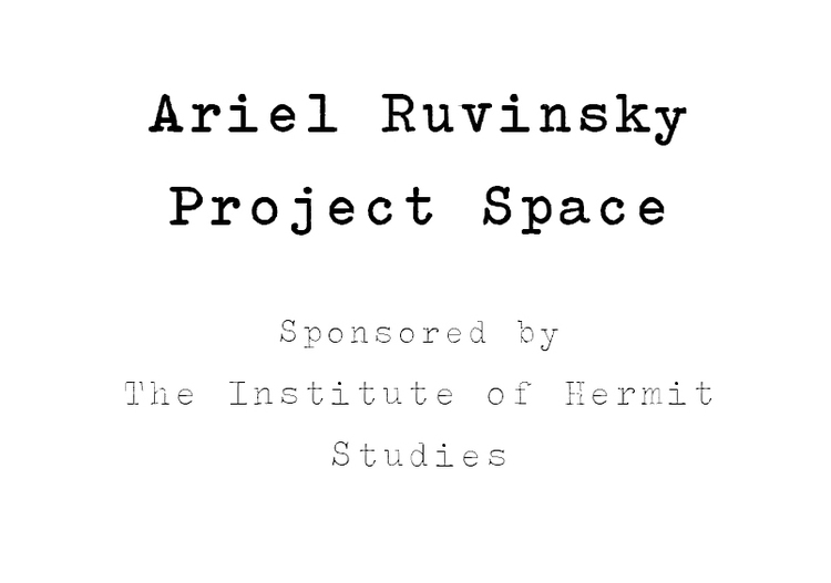 Ariel Ruvinsky Project Space