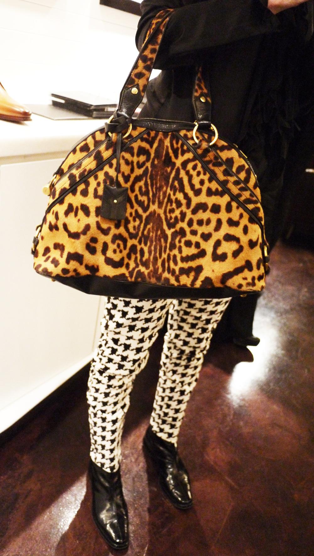 Drooling over  Kristi 's vintage YSL bag.