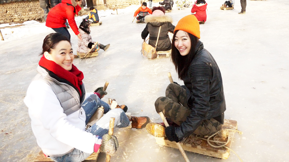 [Ice sledding, Korean Folk Village]