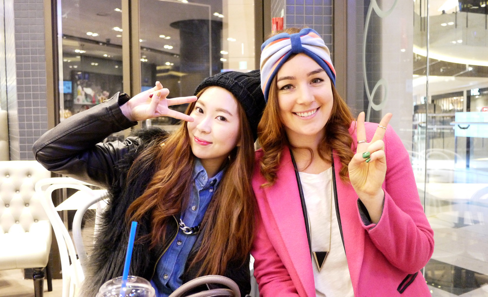 [IFBK Seoul girls, Jina Kim of This Is A Fashion Blog & Elyse Cornett of Faith in Style]