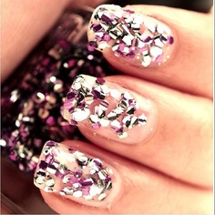 [Chunky Glitter Nails, Source:  Pinterest ]