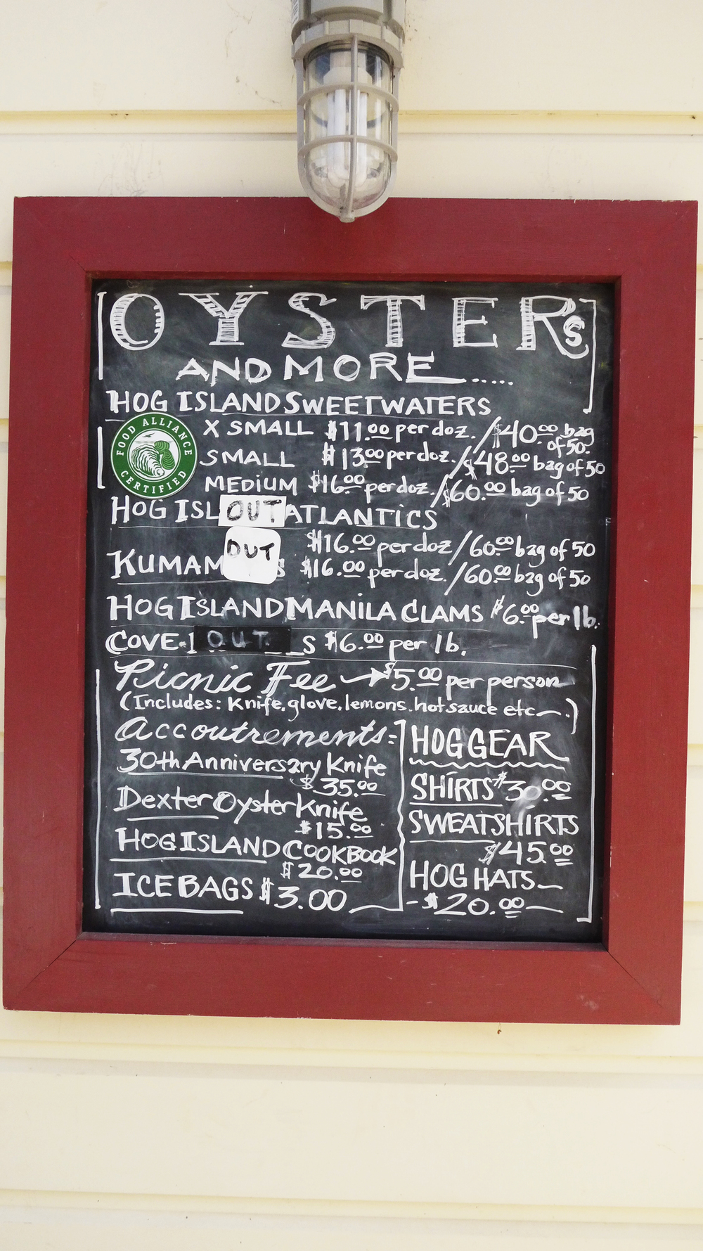 [Hogs Island Oyster Co., Marshall, CA]