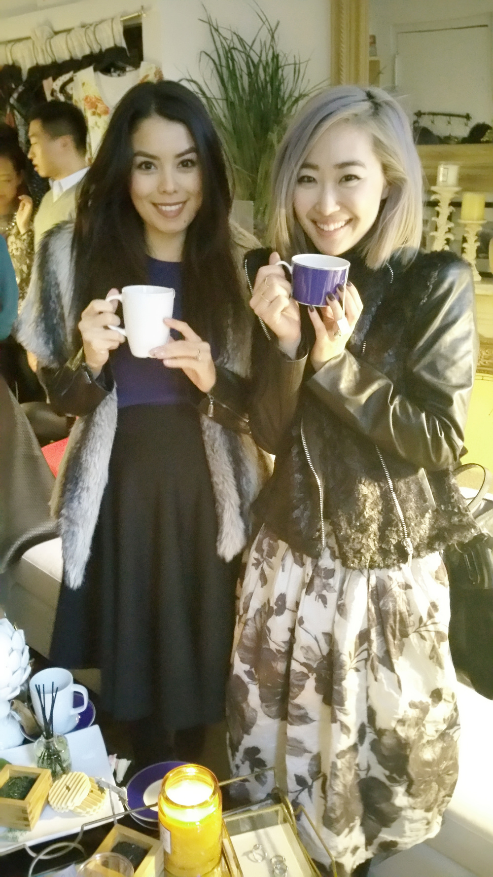 [Roxy from RoxyLimon24  and me sippin' on some good tea]