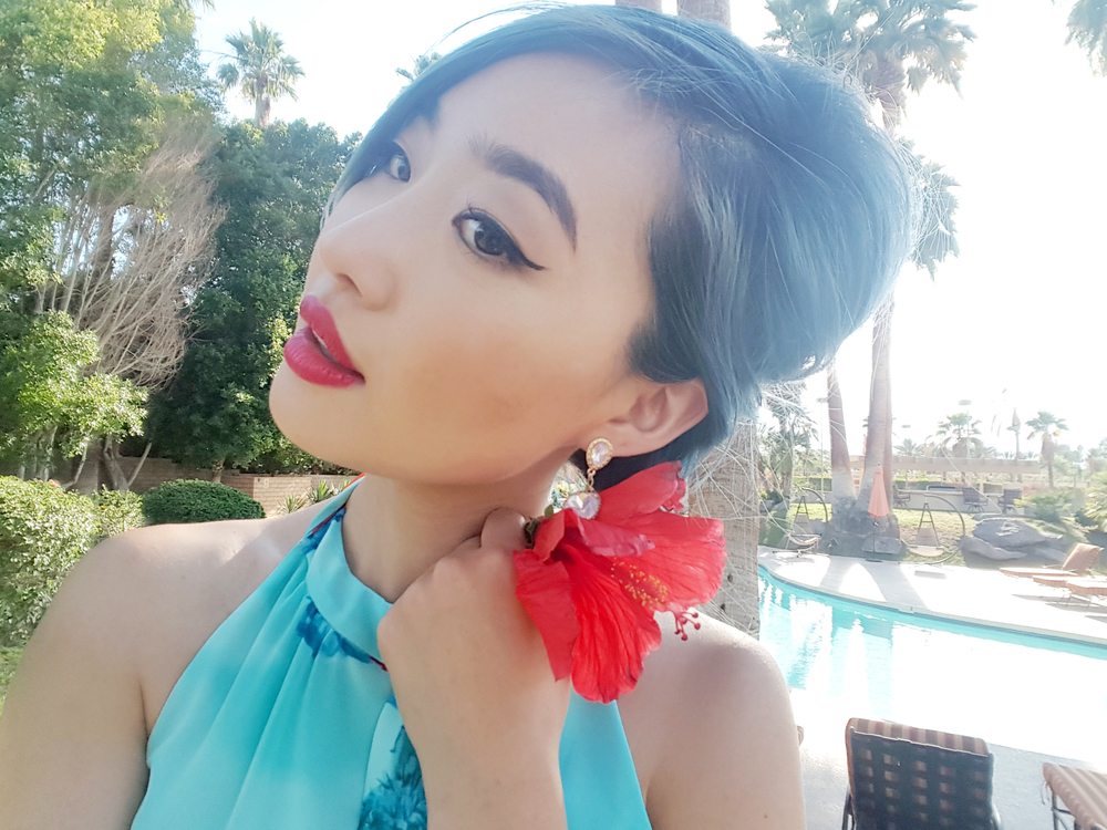 [Modcloth Dress + earrings (coming soon!)]