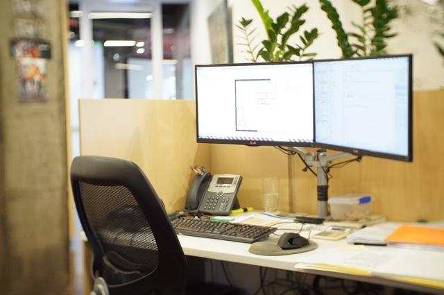 Andrew Le's desk