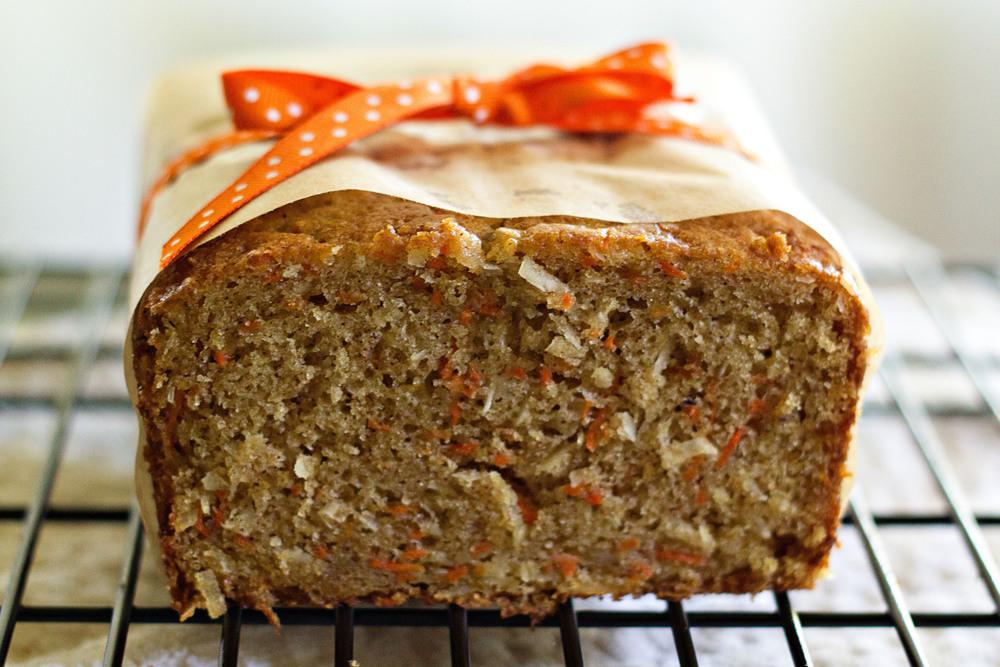 Image easyeverydayeats.com carrot cocoanut cream bread