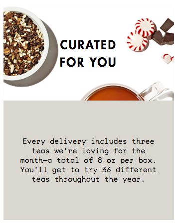 TEAVANA SUBSCRIPTION