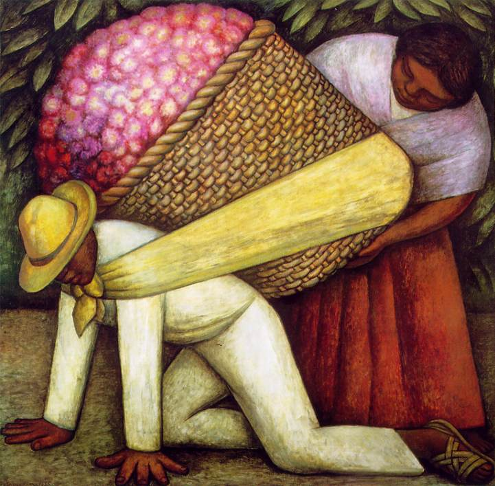 Diego Rivera the  Flower Carrier 1935