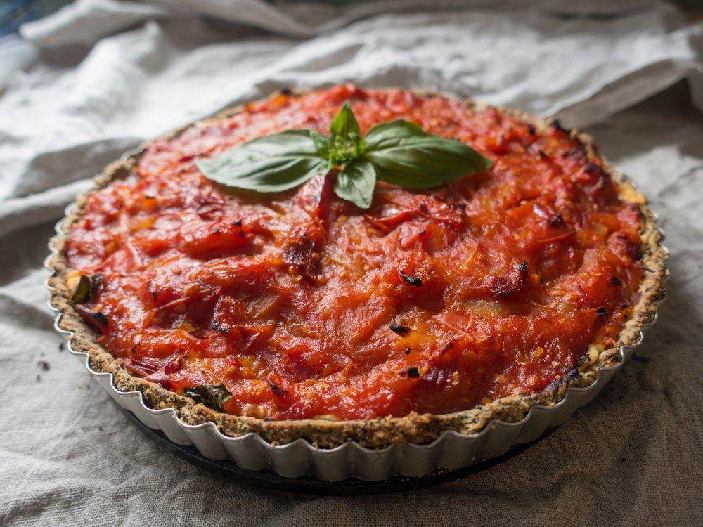 tomato sweet pepper tart