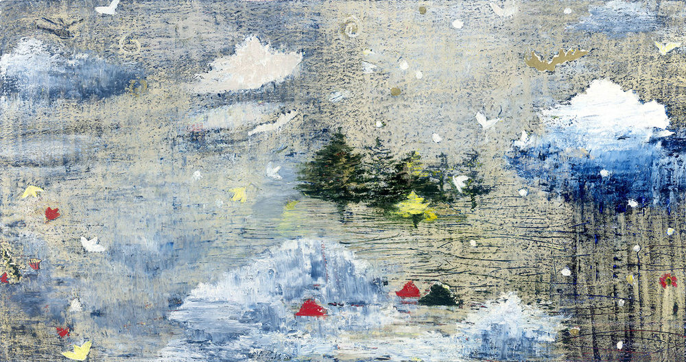 2016 Finalist Paddington Art Prize (detail) 'Cloud Garden One'