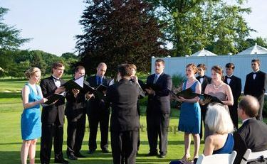 Performing in the ceremony. Credit: Kasey Matson Photography