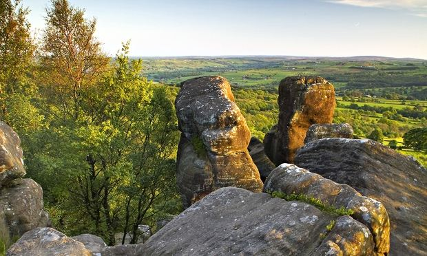 Brimham Rocks, a geological marvel with glorious sun-trap ledges overlooking misty ridges. Photograph: Alamy