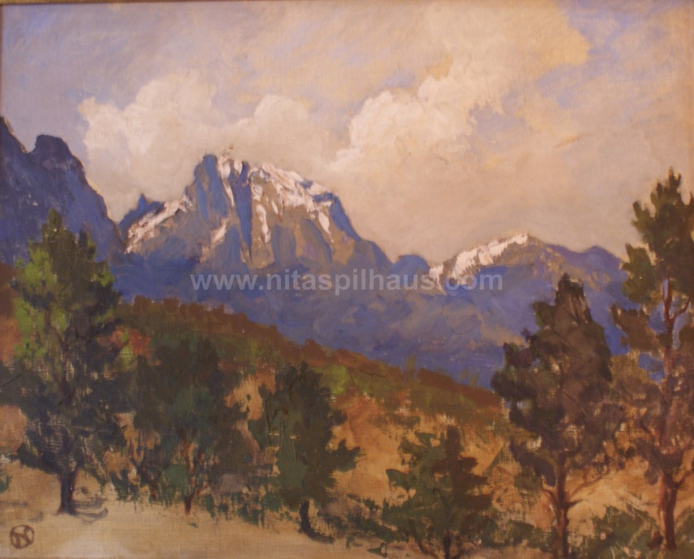 Jonkershoek Mountains Oil on Canvas 1955 28 x 36 Collector 7