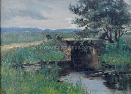 Bridge, Oil on canvas 24 x 32 Collector 14