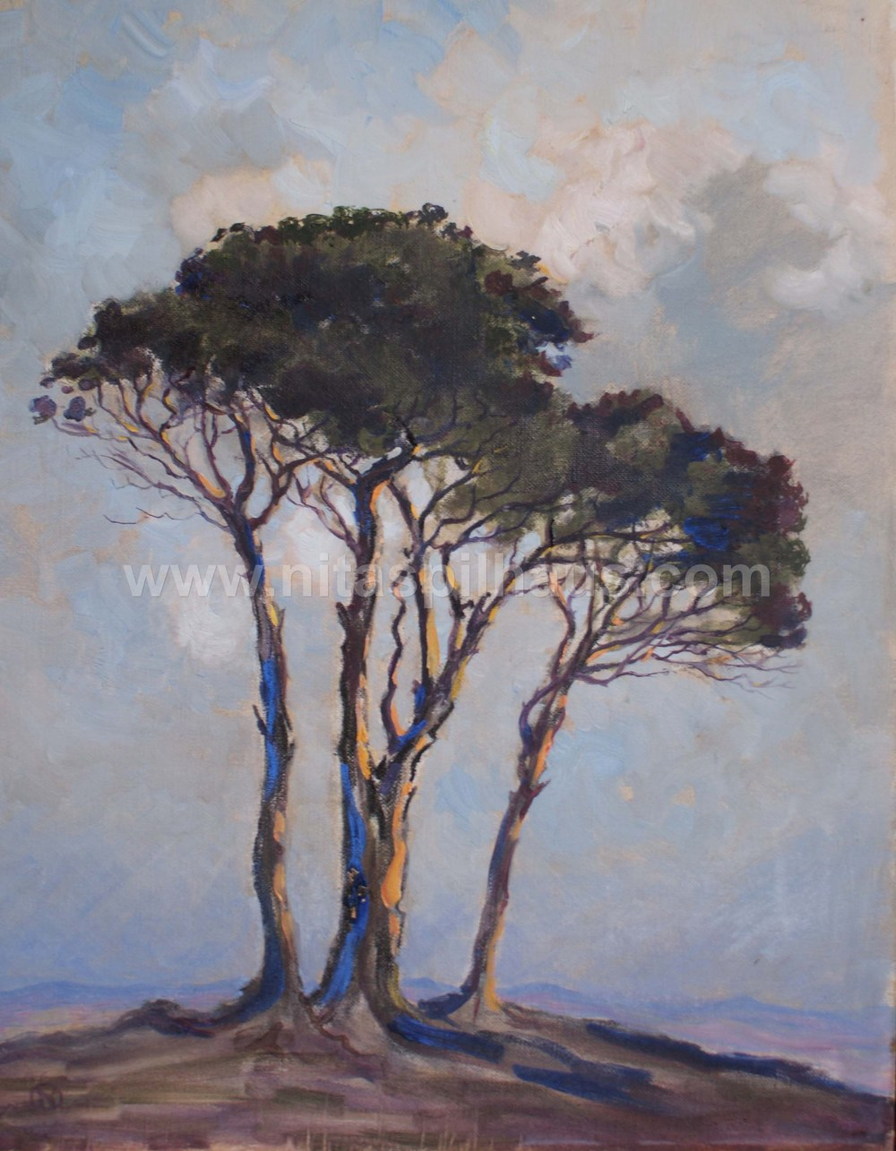 Trees in a landscape, 1937, Oil on canvas 58 x 45 Collector 16