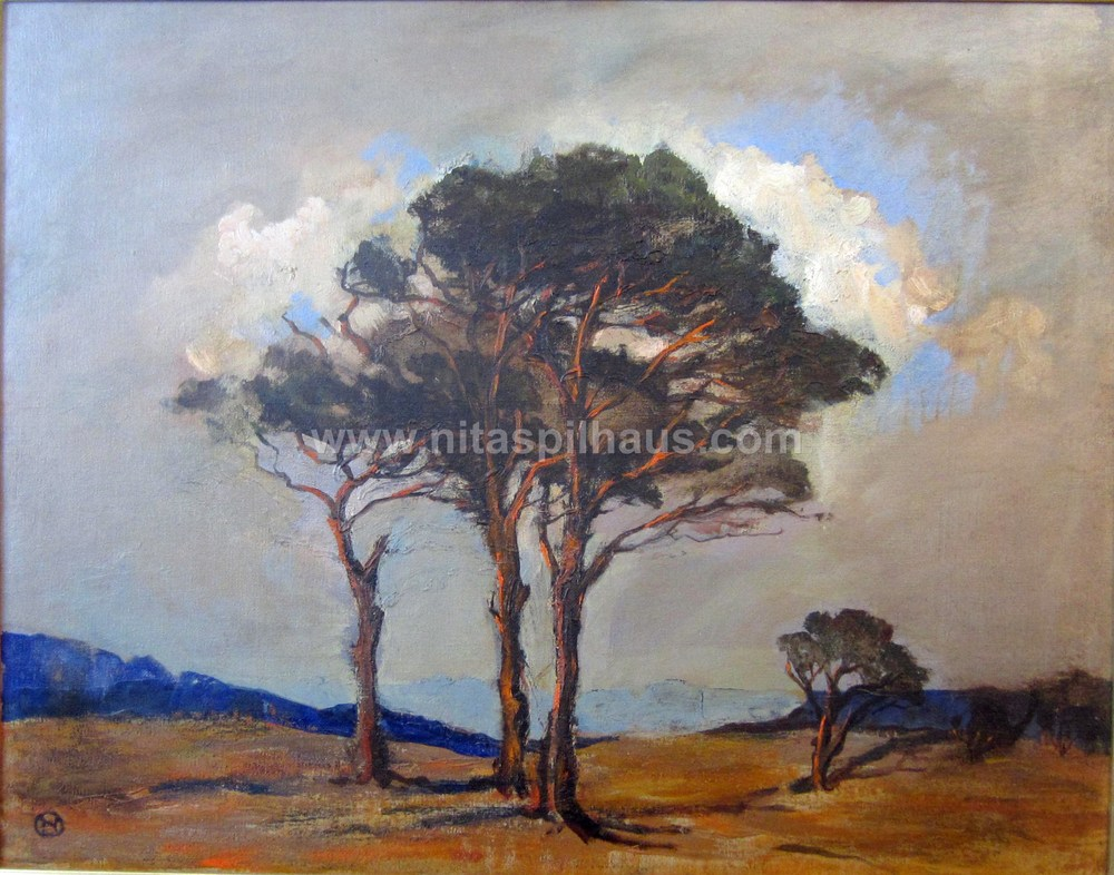 Scots Pines, Oil, 47 x 60 Collector 18