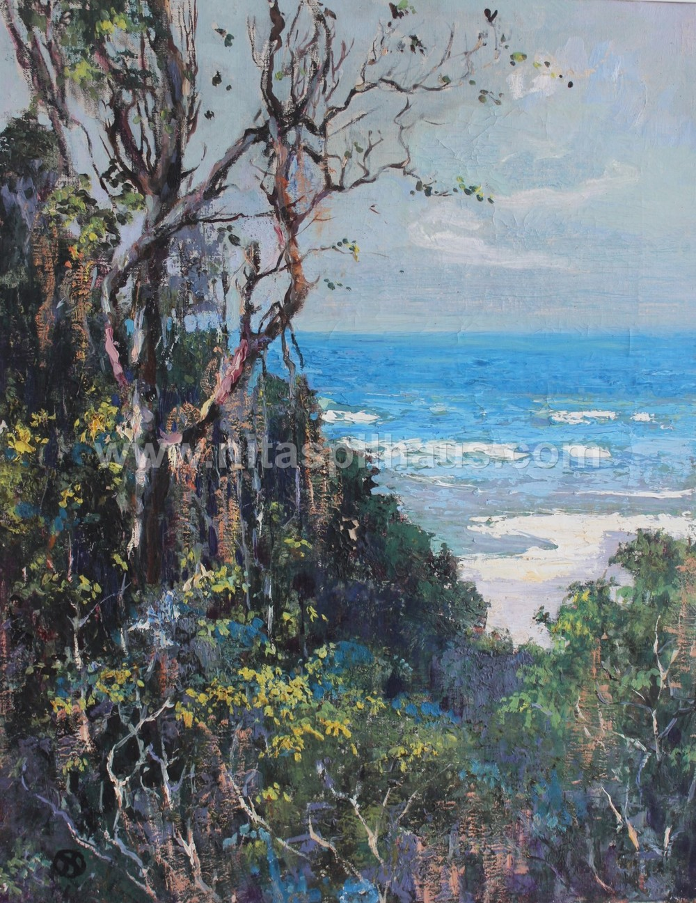Wilderness Beach, January 1918,  Oil on canvas 61 x 48 cm Collector 49