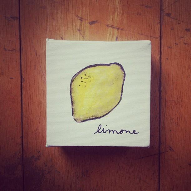enricamasi :     #limone #minisquaredcanvas (at Masi's)