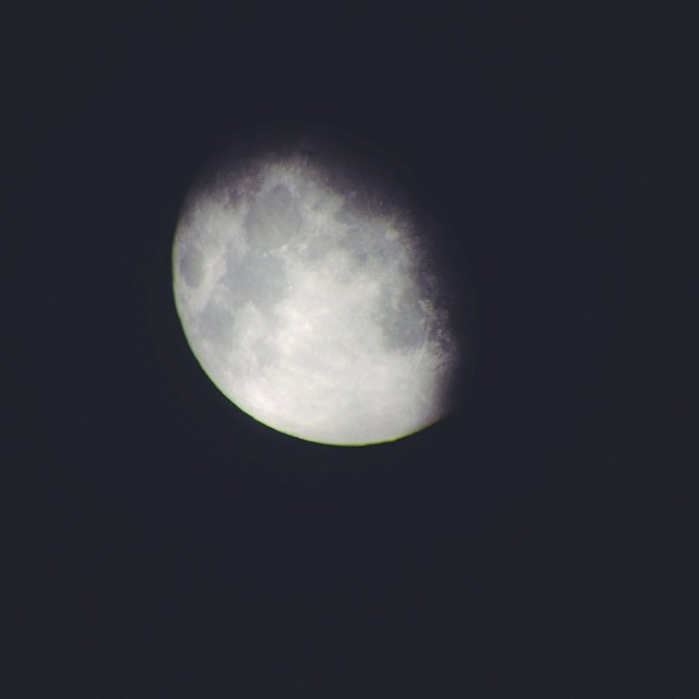 #vscocam #moon from the #telescope