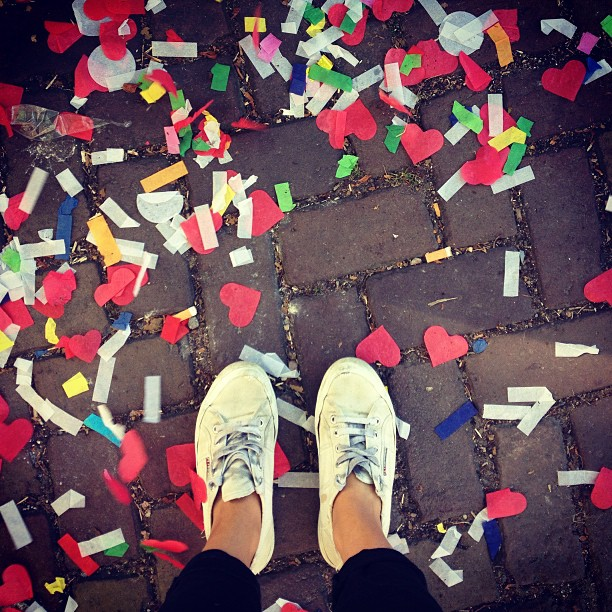 #gayprideamsterdam #confetti (at Dam)