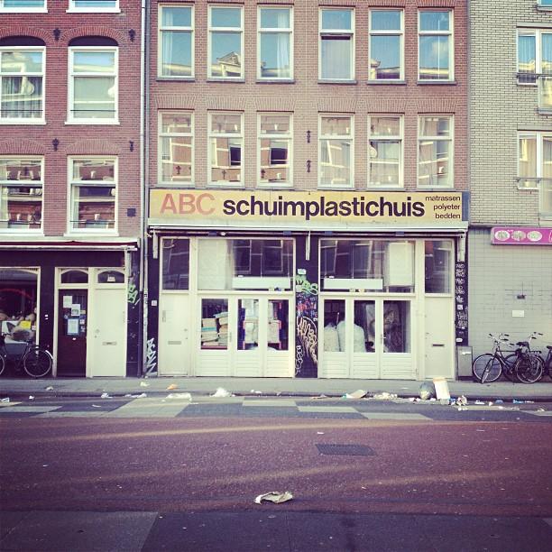 #abc #helveticaamsterdam (at Tropische Winkel)
