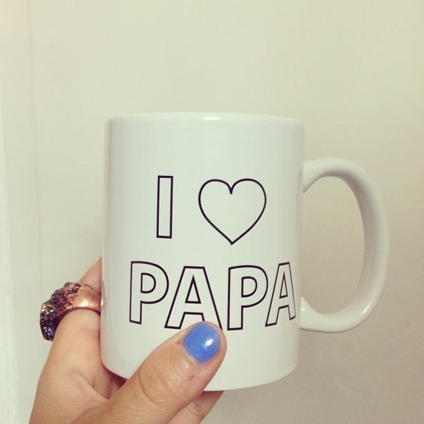 I bought this mug for 50 cents. #albertheijn @mariomasi i miss my papa.