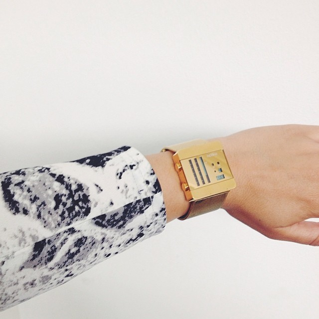 I love this combo #nooka watch and #marble shirt from #monki @nooka_global