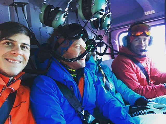 Up in the air 🤙 #heliski #trient #loveski #ski #powpow #freeride