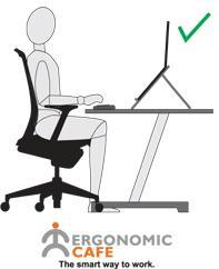 Using our laptop stands can significantly help to improve your posture as well as increasing efficiency.
