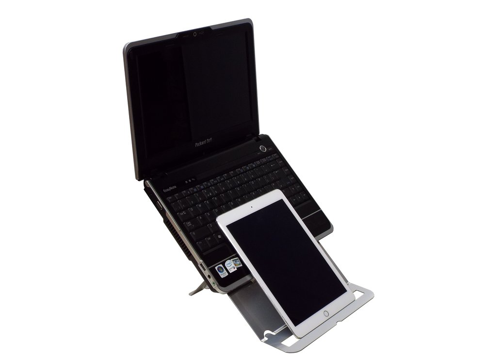 """THE ONLY STAND TO ADDRESS THE LIMITATIONS OF 10-13"""" LAPTOPS"""