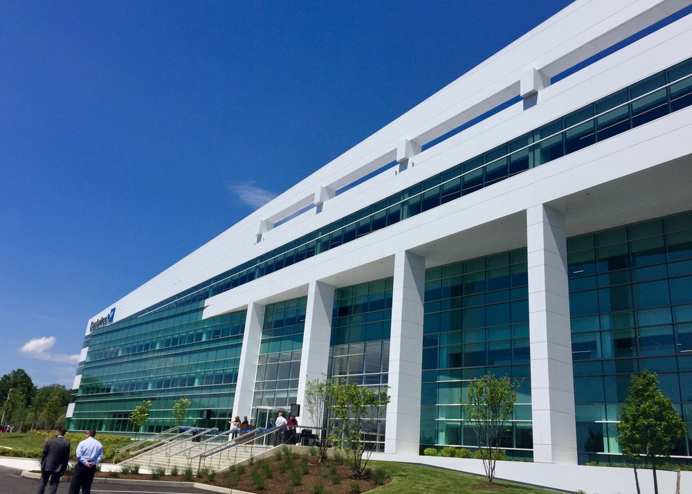 The new Dealertrack HQ is a 233,000-square-foot facility in the Village of North Hills, Long Island.