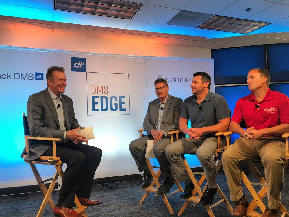 Kurt Olnhausen, Rick Sweeney, Clay Johnson, and Mike Kelley on the set of DMS Edge.
