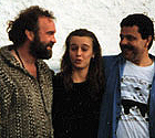 Tour's end, with John Martyn and Kate Howes 1994 in Roberton Scotland