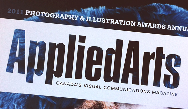 It was my first design award, and I was really pumped.  Applied Arts Magazine  is a publication all my design teachers pushed us to submit to. So when I won, I really felt I had met a huge milestone. My work would be seen next to agencies like  Sid Lee .  Judged by panels of industry professionals, every entry is scored independently by each judge, based on creative merit, technical excellence and suitability for end use.
