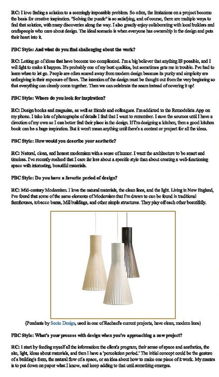 PBC STYLE INTERVIEW 2012