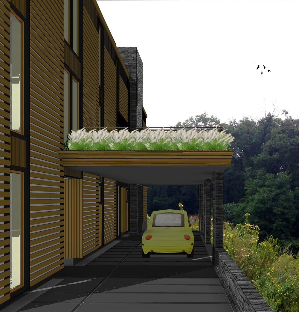 CARPORT + ENTRIES