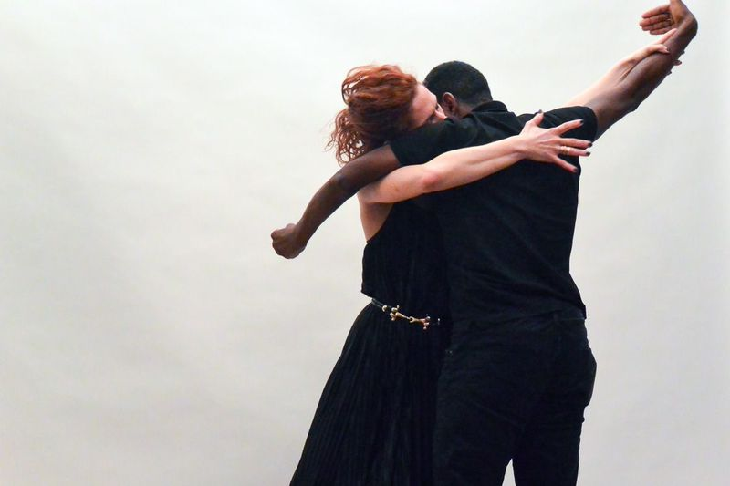 Dancers Jillian Hollis and Jerron Herman performing their duet, excerpted from Somewhere. (photo: Alena Jaffe)