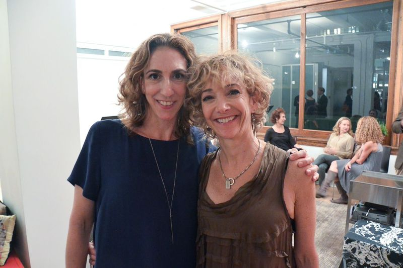 Heidi with our generous and talented board member/graphic designer Alissa Levin. (photo: Alena Jaffe)
