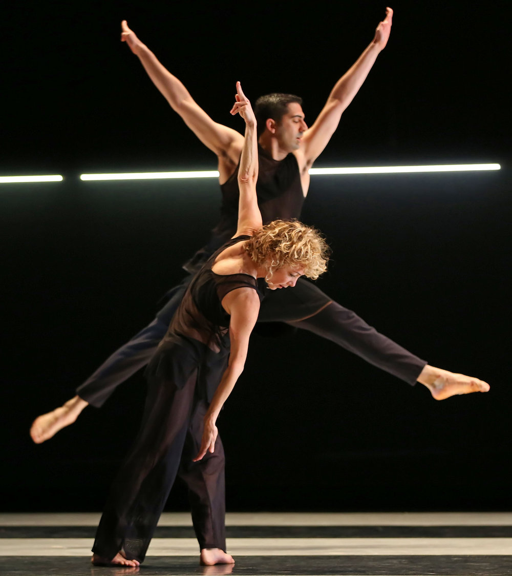 "Heidi Latsky and Gregory Youdan Jr. in Ms. Latsky's ""Triptych,"" at Montclair State University's Alexander Kasser Theater. Credit Andrea Mohin/The New York Times"