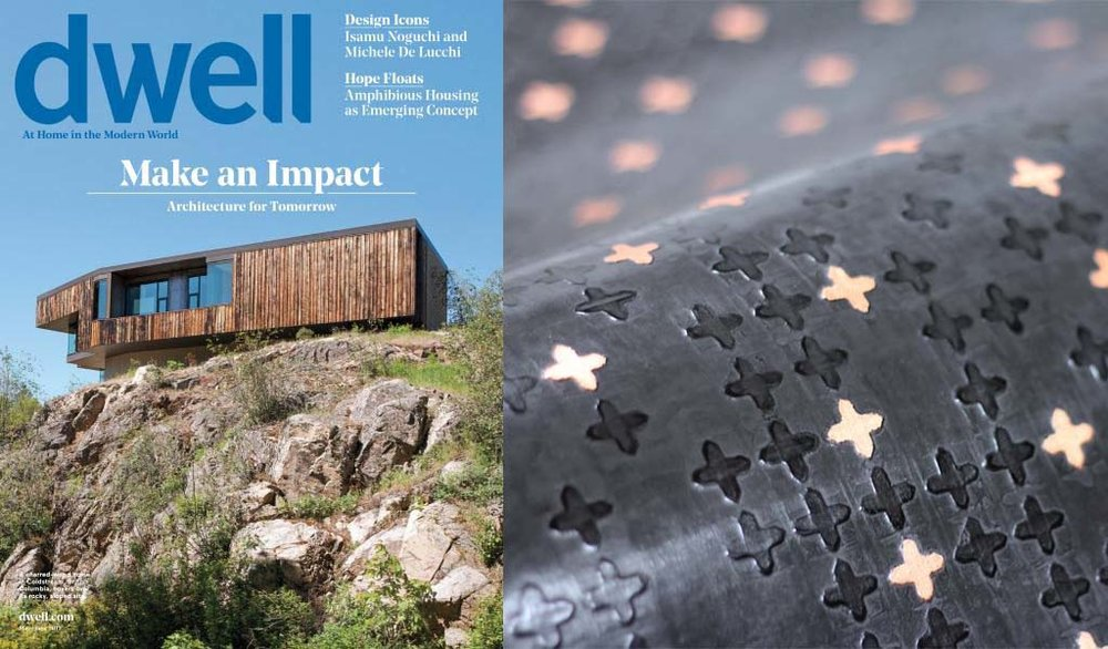 Interested in how Gothic Leaf wallcovering is made? See the entire process documented from beginning to end in the May/June 2017 issue of dwell magazine | Paper Trail 'A couple's quest to reinvent wallcovering takes them from New York to the Ozarks' written by Arlene Hirst. Spending time with photo editor Susan Getzendanner and photographer Jamie Chung in the ASSEMBLAGE studio was an experience of a life time, thank you dwell!
