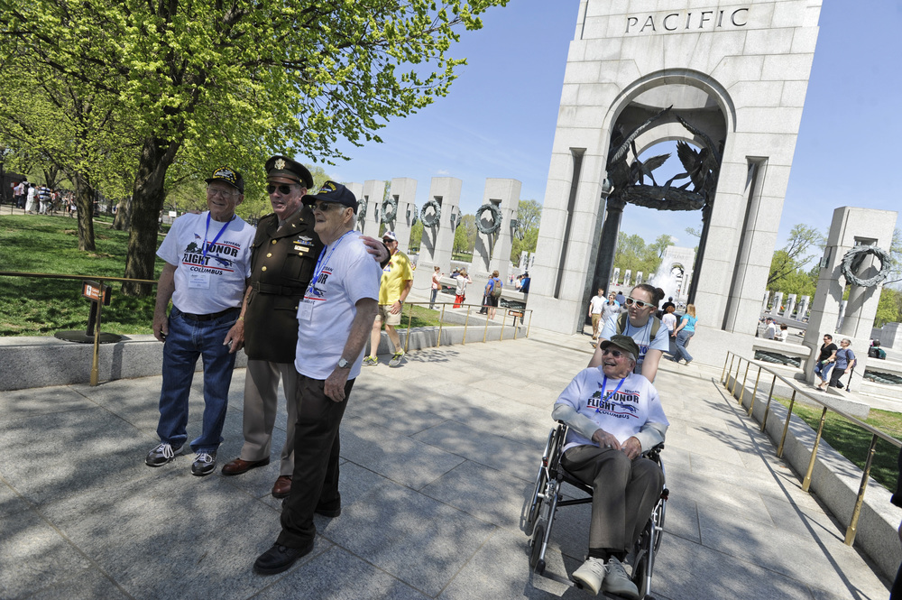 On Saturday, April 18 Chillicothe veterans Marvin Bridenbaugh and Paul Thurman were part of an Honor Flight that took 81 veterans from WWII, the Korean War and the Vietnam War on a trip to Washington, D.C. The trip allows veterans a chance to see the memorials in the capital free of charge.