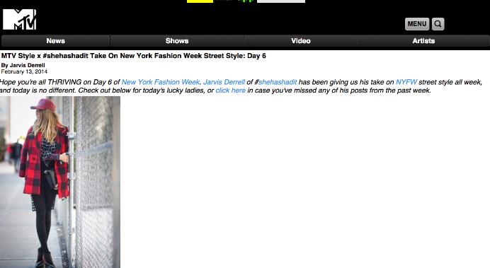 MTV, NYFW February 2014
