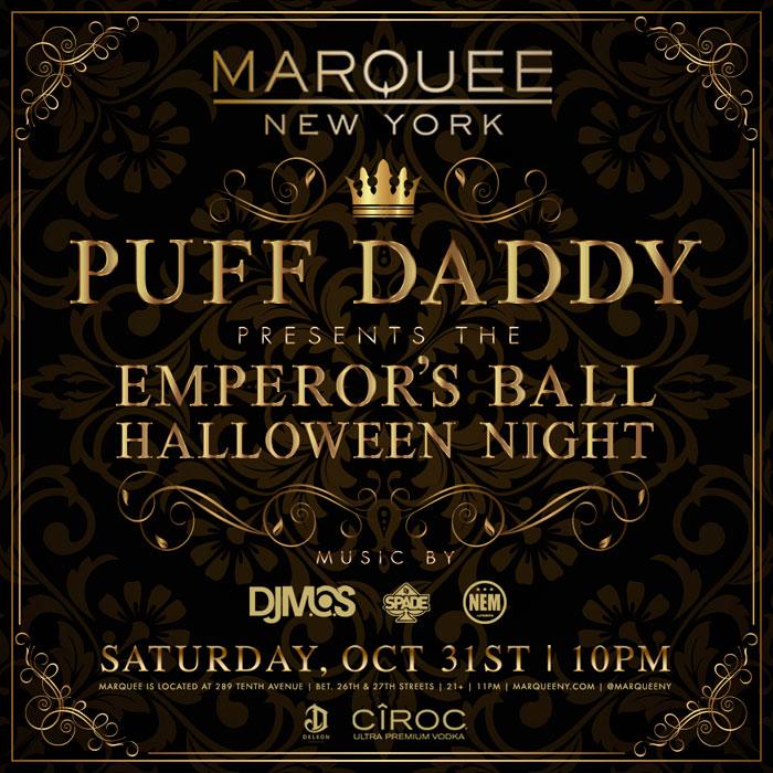 E tem também a festa do Puff Daddy na Marquee!