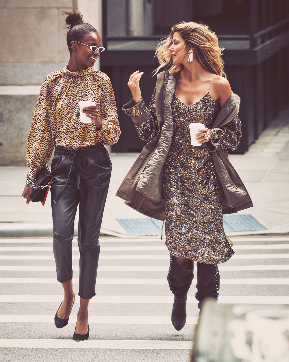 LEOMIE WEARS RAMY BROOK  TOP  AND  PANTS  I WEAR JOIE  DRESS ,  JACKET  AND  BOOTS