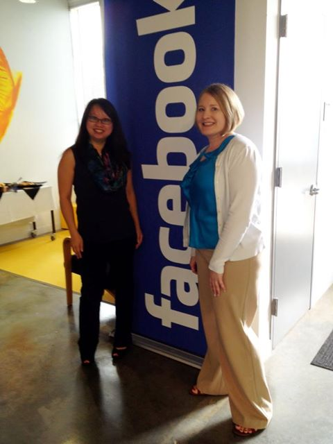 Kaofeng Lee and Cindy Southworth at Facebook HQ in Menlo Park, CA.