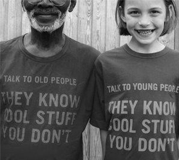 talk to old people