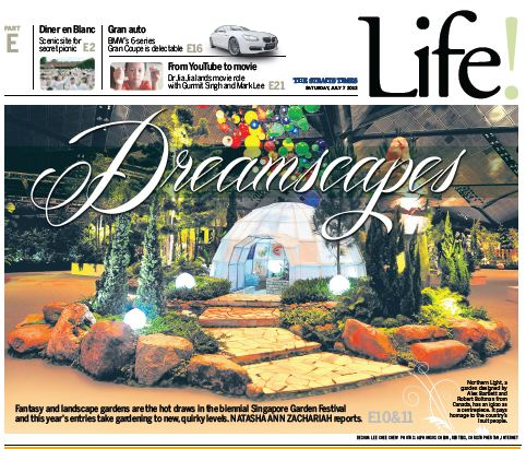 B sq. Design Studio Inc. makes the Front Cover of the Singapore Strait times Life Section.