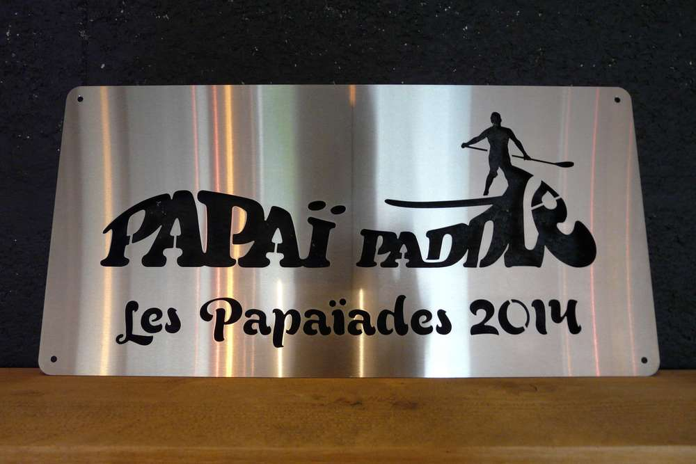 "Plaque trophée ""Papaï Paddle"""